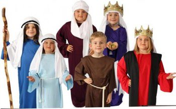 Story of Christ Biblical Gown Child Costume - Little Red Riding Hood Grandmother Costume
