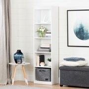 """South Shore Smart Basics 5-Shelf 69"""" Narrow Bookcase, Multiple Finishes"""