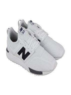 e254640c2546ad Product Image New Balance Lifestyle Mens White Textile Athletic Lace Up  Training Shoes