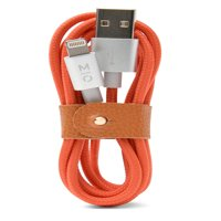 MOTILE™ Commuter Power Cord with Lightning® Connection, Red Orange