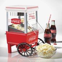 Nostalgia OFP501COKE Coca-Cola 12-Cup Hot Air Electric Popcorn Maker