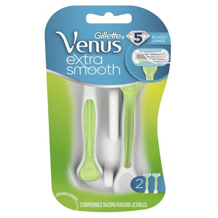 Gillette Venus Extra Smooth Green Disposable Women's Razors - 2 (Green Razor)