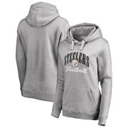 58e162ba094 Pittsburgh Steelers NFL Pro Line by Fanatics Branded Women's Victory Script  Pullover Hoodie - Heathered Gray