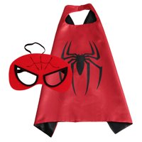 Spiderman Superhero Cape and Mask for Boys, Costume for Kids Birthday Party, Favors, Pretend Play, Dress Up Favors, Christmas Gift