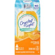 (6 Pack) Crystal Light with Caffeine On-the-Go Citrus Drink Mix, 10 Packets