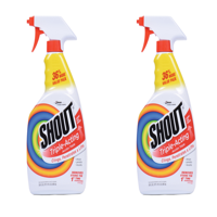 (2 Pack) Shout Triple-Acting Stain Remover Spray, 30 Ounces