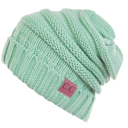 Billed Beanie Cap (C.C Women's Thick Soft Knit Beanie Cap)