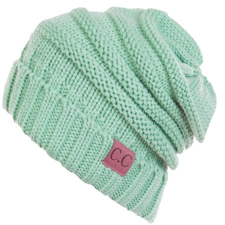 C.C Women's Thick Soft Knit Beanie Cap Hat ()