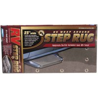 "Camco 42935 Wrap Around RV Step Rug XL for Larger Manual or Electric RV Steps, 23""W - Protects Your RV From Unwanted Tracked In Dirt (Gray)"