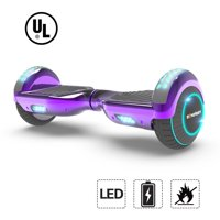 """UL2272 Certified TOP LED 6.5"""" Hoverboard Two Wheel Self Balancing Scooter Chrome Purple"""