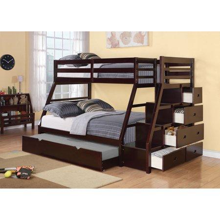 Acme Furniture Jason Twin Over Full Bunk Bed Espresso Walmart Com