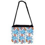 1706a9dca0d1 Black Laptop Shoulder Messenger Bag and Small Wire Accessories Case Set - -  Florals