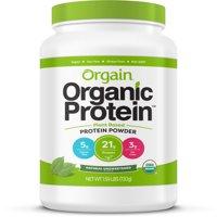 Orgain Organic Vegan Protein Powder, Unsweetened, 21g Protein, 1.6 Lb