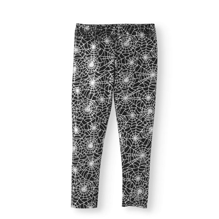 Girls' Halloween Foil Web Leggings - Leggings Halloween