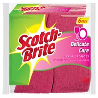 Scotch-Brite Delicate Care Non-Scratch Scrub Sponge, 6 Count
