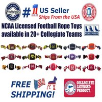 Pets First Collegiate Georgia Bulldogs Plush Football Rope Toy for Dogs & Cats - Soft, Chewy & Squeaky