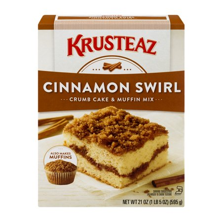 (5 Pack) Krusteaz Cinnamon Swirl Crumb Cake and Muffin Mix, 21oz