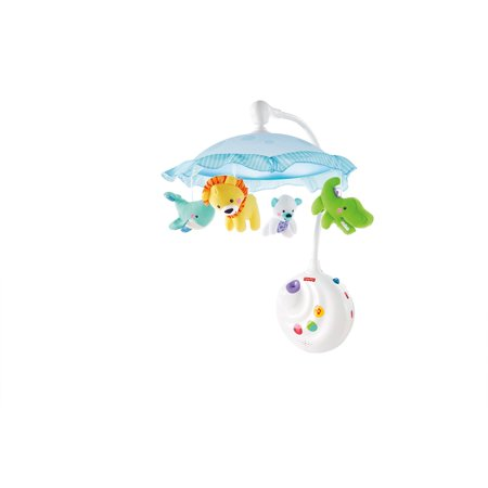 Fisher-Price 2-in-1 Projection Crib Mobile, Precious Planet (Rainforest Mobile)