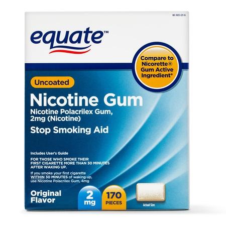 Aid Nicotine Lozenges 2mg Mint - Equate Uncoated Nicotine Gum, Original Flavor, 2mg, 170 Pieces