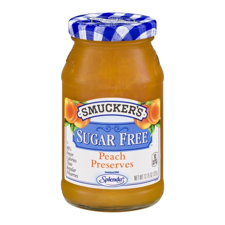 - (3 Pack) Smucker's Sugar Free Preserves Peach, 12.75 oz