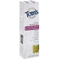 Tom's Of Maine Natural Fluoride-Free Antiplaque & Whitening Toothpaste Fennel, 5.5 OZ