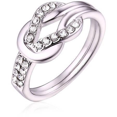 - Swarovski Elements 18kt White Gold-Tone Ring