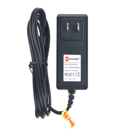 PKPOWER 6.6FT Cable AC / DC Adapter 5V 1A 1000mA For Roku HD box Power Supply Cord ()