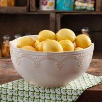 "The Pioneer Woman Farmhouse Lace 10"" Linen Serving Bowl"