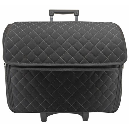 Black Quilted Rolling Tote - Walmart.com 28f29add62