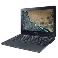 "Samsung Chromebook 3 11.6"" Intel Celeron N3060, 16GB eMMC Storage, 4GB Memory, Chrome OS - Metallic Black - XE500C13-K04US"