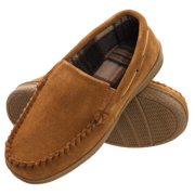 717e3eacc8c2c heat edge mens memory foam suede slip on indoor outdoor venetian moccasin  slipper shoe