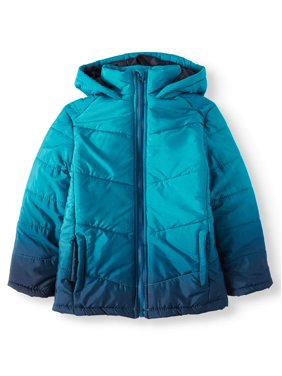 Dip Dye Hooded Bubble Jacket (Little Girls & Big Girls)