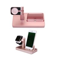 Rose Gold Charging Dock Stand Station Charger Holder For Apple Watch iWatch Series 4 3 2 1, iPhone XS Max /XS/ XR /X,iPhone 8 Plus, iPhone 8, iPhone 7 Plus, iPhone 7, iPhone 6 Plus, iPhone 6 / 6S,5 5S