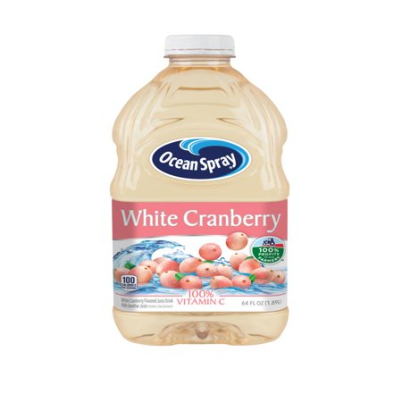 - (2 Pack) Ocean Spray Juice, White Cranberry, 64 Fl Oz, 1 Count