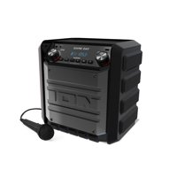 ION Tailgater Express Game Day 50-Watt Portable Rechargeable Bluetooth Wireless 2-Way Speaker System with FM Radio, USB charge Port and Aux Input, Black (Refurbished)