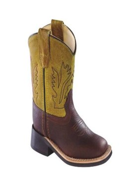 old west jama corporation boys infant brown foot tan fry top cowboy boots