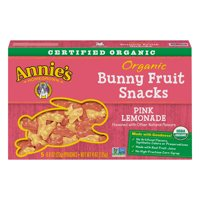 (2 Pack) Annie's Gluten Free Organic Bunny Pink Lemonade Fruit Snacks, 5 ct