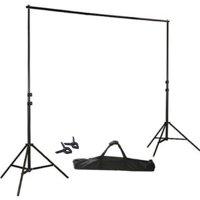 BalsaCircle Black 8 ft x 10 ft Photo Backdrop Stand Kit - Studio Background - Wedding Party Photo Booth Studio Decorations