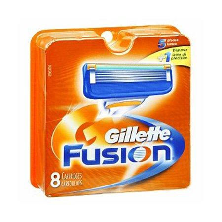 Gillette Fusion Refill Razor Blade Cartidges, 8