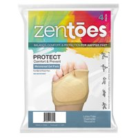 ZenToes Fabric Metatarsal Sleeve with Sole Cushion Gel Pads Set of 4