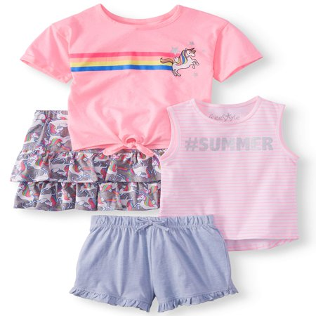 Unicorn Mix and Match, 4-Piece Outfit Set (Little Girls & Big Girls) - Female Detective Outfit
