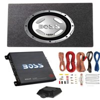 "Boss Audio Chaos 12"" 1400W Subwoofer + Shallow Enclosure + Amplifier & Wire Kit"