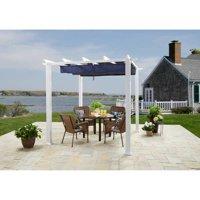 Better Homes & Gardens Meritmoor Aluminum/Steel Pergola with Single-Finish, 10' x 12', White