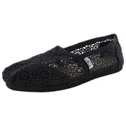 e44ff66477a Womens Classic Crochet Slip On Alpargata Shoe