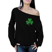 c358984d Awkward Styles St Patricks Sweater Irish Clover Pocket Sweatshirt St. Patricks  Day Off the Shoulder