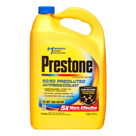 Prestone Extended Life Prediluted Antifreeze Coolant Walmart Com