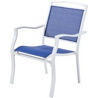 Mainstays Sand Dune Outdoor Dining Chair, Blue, Set of 6