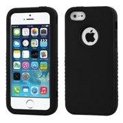 cbb8450ec Insten Rubberized Black Black VERGE Hybrid Case Cover For Apple iPhone SE  5S 5