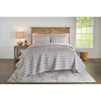 Better Homes and Gardens Solid Ruffle Stripe Quilt