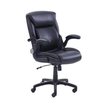 Serta AIR Lumbar Bonded Leather Manager's Office Chair, Multiple Color